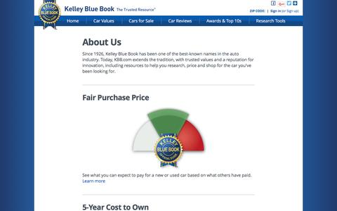 Screenshot of About Page kbb.com - About Us - Kelley Blue Book - captured March 17, 2017