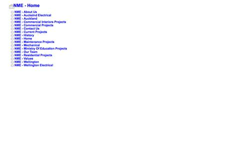 Screenshot of Site Map Page nme.co.nz - Sitemap - captured Oct. 7, 2014