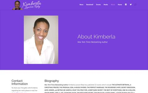 Screenshot of About Page kimroby.com - About - Kimberla Lawson Roby - captured March 4, 2016