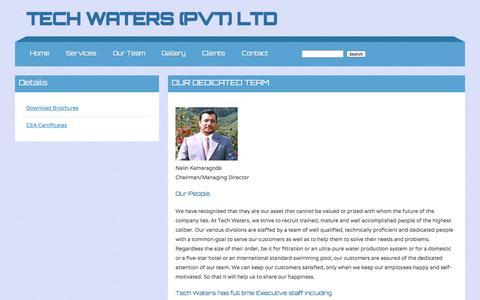 Screenshot of Team Page techwaterslk.com - Team - captured Oct. 7, 2014