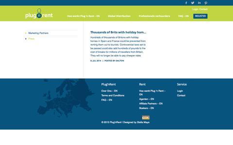 Screenshot of Press Page plugnrent.com - Press   Plug'nRent - captured Sept. 30, 2014