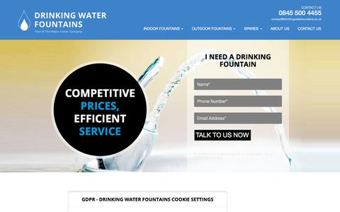 Screenshot of Site Map Page drinkingwaterfountains.co.uk - Sitemap | Drinking Water Fountains - captured Aug. 8, 2018