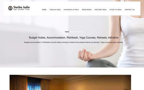 Budget Hotels, Accommodation, Rishikesh, Yoga Courses, Retreats, Ashrams