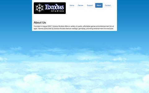 Screenshot of About Page exodus-studio.com - Exodus Studios, LLC - captured Sept. 19, 2017