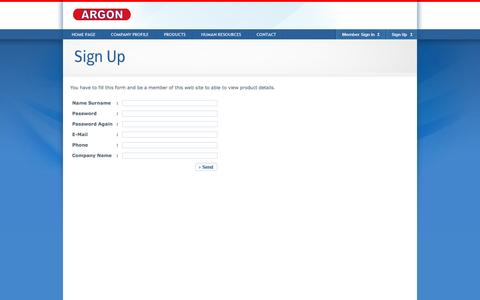 Screenshot of Signup Page argon.com.tr - Argon - Sign Up - captured Feb. 6, 2016