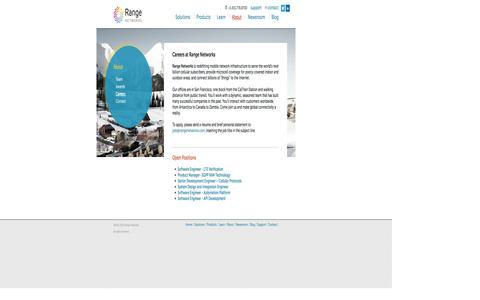 Screenshot of Jobs Page rangenetworks.com - Careers at Range Networks - captured Sept. 30, 2014
