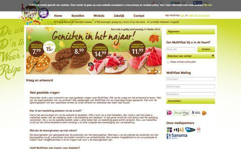 Screenshot of FAQ Page multivlaai.nl - Meest gestelde vragen aan MultiVlaai - captured Oct. 26, 2014