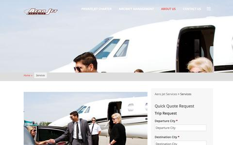 Screenshot of Services Page aerojetservices.com - Services - Aero Jet Services - captured June 7, 2019