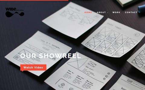 Screenshot of Home Page wibe.in - Website design company in Gurgaon   Branding, Websites & UI Design - captured Oct. 18, 2016