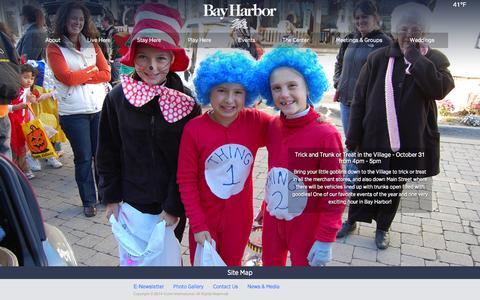 Screenshot of Home Page bayharbor.com - Bay Harbor - Bay Harbor - captured Oct. 5, 2014