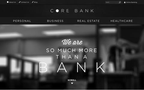 Screenshot of About Page corebank.com - About Us | Core Bank - captured Dec. 12, 2015
