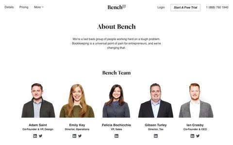 Bench — About Bench
