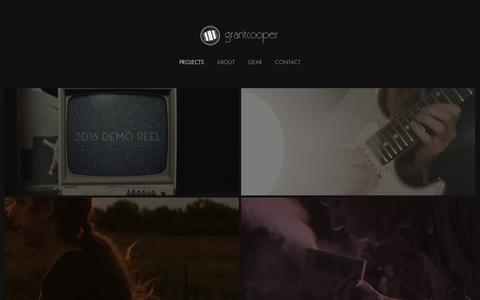 Screenshot of Home Page gcooper.ca - Grant Cooper | Filmmaker & Photographer - captured Oct. 16, 2016