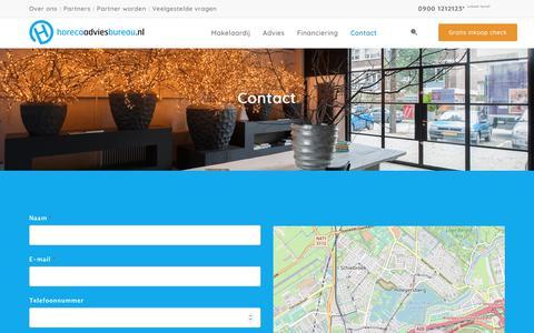 Screenshot of Contact Page horecaadviesbureau.nl - Contact - Horeca Adviesbureau - captured Nov. 11, 2018