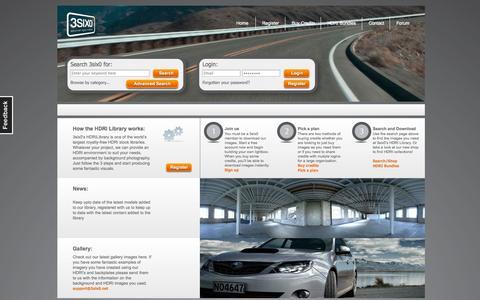 Screenshot of Home Page 3six0.net - HDRI - captured Oct. 9, 2014