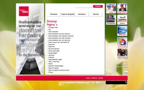 Screenshot of Site Map Page itec.nl - Sitemap | Itec - Innovators in Printing - captured Oct. 6, 2014