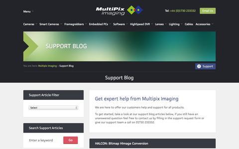 Screenshot of Support Page multipix.com - Support Blog - Multipix Imaging - captured Oct. 1, 2014