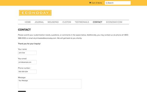 Screenshot of Contact Page econoday.com - CONTACT – Econoday Inc. - captured Nov. 26, 2017