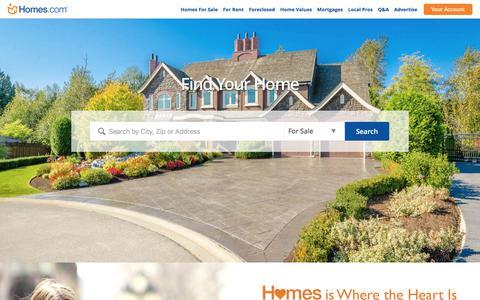 Find Homes for Sale, Real Estate Listings & Home Rentals Nationwide | Homes.com