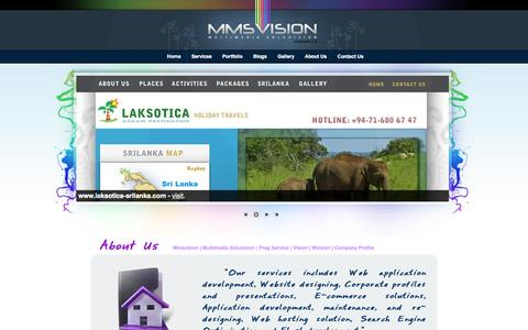 Screenshot of About Page mmsvision.com - Mmsvision | About Us - Prag Service - MMSV - Multimedia Soluvision - web designers cantact - graphic designers contacts - Sri Lanka - captured Oct. 26, 2014