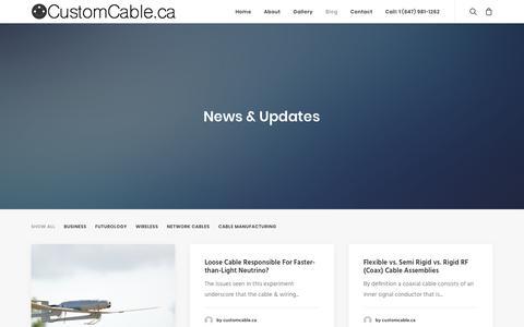 Screenshot of Blog customcable.ca - Blog - CustomCable - captured Oct. 1, 2017
