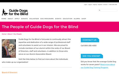Screenshot of Team Page guidedogs.com - Guide Dogs for the Blind   -  The People of Guide Dogs for the Blind - captured Sept. 19, 2014