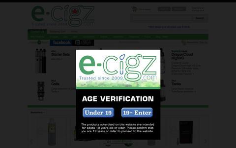 Screenshot of Home Page electronic-cigz.com - Electronic-Cigz.com - captured June 30, 2017