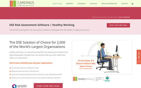 Screenshot of Trial Page cardinus.com - DSE Risk Assessments from Cardinus - captured July 15, 2017