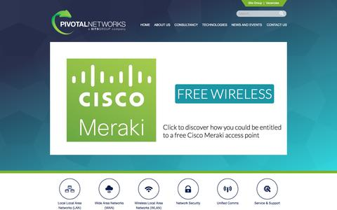Screenshot of Home Page pivotalnetworks.co.uk - Pivotal Networks - Network / Telecommunications Specialists - captured Jan. 28, 2016