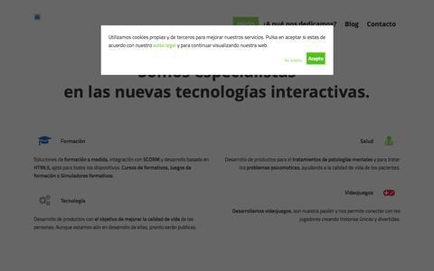 Screenshot of Home Page ctgames.es - Owari Studios - Formación, Salud, Tecnología y Videojuegos - captured July 17, 2015