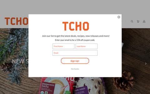 Screenshot of Home Page tcho.com - TCHO Chocolate   TCHO Chocolate - captured Dec. 7, 2018