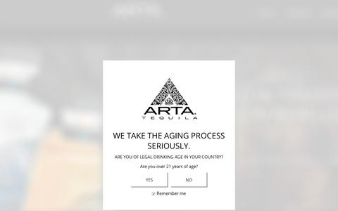 Screenshot of Contact Page artatequila.com - Age Verification - Arta Tequila - captured Dec. 18, 2018