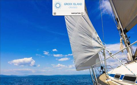 Screenshot of Home Page greekislandcruises.eu - Greek Island Cruises - Welcome - captured Sept. 30, 2014