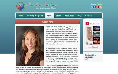 Screenshot of About Page kimjonescoaching.com - About Kim Jones | Kim Jones small business coaching expert California | - captured Oct. 6, 2014