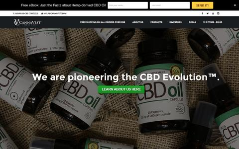Screenshot of Home Page cannavest.com - CannaVest™ | From Seed To Shelf™ - captured Jan. 25, 2016