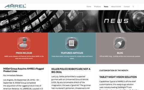 Screenshot of Press Page amrel.com - News | AMREL.com - captured July 28, 2018