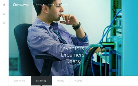 Screenshot of Team Page qualcomm.com - Leadership - captured Oct. 10, 2014