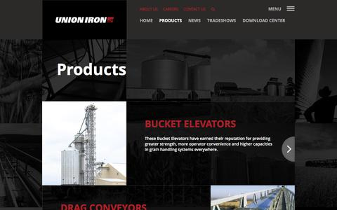 Screenshot of Products Page unioniron.com - Products - captured Feb. 23, 2016