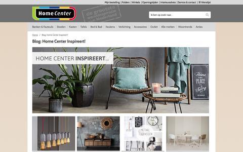 Screenshot of Blog homecenter.nl - Blog: Home Center Inspireert! - captured Nov. 11, 2016