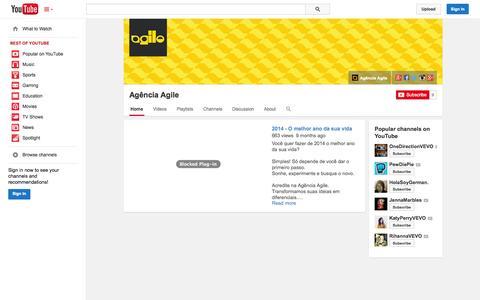 Screenshot of YouTube Page youtube.com - Agência Agile  - YouTube - captured Nov. 2, 2014
