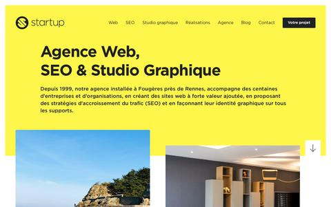Screenshot of Home Page start-up.fr - Agence web, SEO et studio graphique - captured May 30, 2019