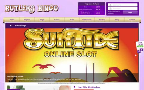 Screenshot of Blog butlersbingo.com - Butlers Bingo - captured Jan. 8, 2019