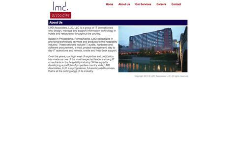 Screenshot of About Page lmdassociatesllc.com - LMD Associates, LLC - captured Sept. 26, 2014