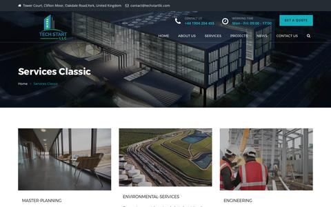 Screenshot of Services Page techstartllc.com - Tech Start UK | Construction Company - Tech Start LLC - captured June 12, 2017