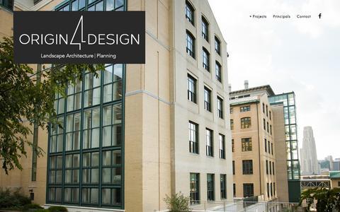 Screenshot of Home Page origin4design.com - Origin 4 Design - captured Jan. 11, 2016