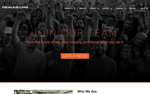 Screenshot of Jobs Page dealer.com - Technical engineering - captured Jan. 10, 2017