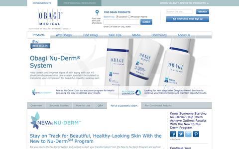 Screenshot of Signup Page obagi.com - Nu-Derm: New to Nu-Derm   Obagi Medical Products - captured Sept. 19, 2014