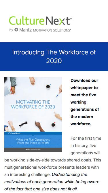 Motivating the Workforce of 2020