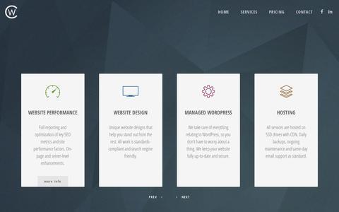 Screenshot of Services Page customweb.co.za - Services – CUSTOMWEB - captured Dec. 30, 2016