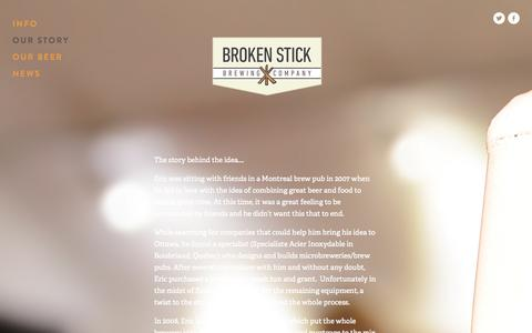 Screenshot of Menu Page brokenstickbrewing.com - Broken Stick Brewing Company - captured Nov. 3, 2014